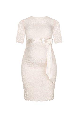 Herzmutter Umstands-Spitzen-Kleid, Elegantes-Knielanges Schwangerschafts-Kleid für Festliche...