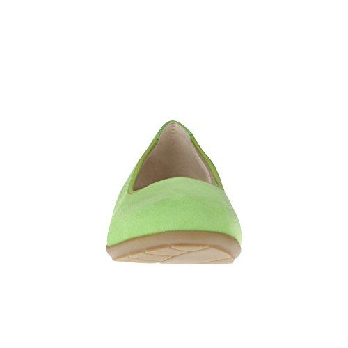 tessamino Damen Ballerina aus Veloursleder, edel, Weite H, für Einlagen Grün