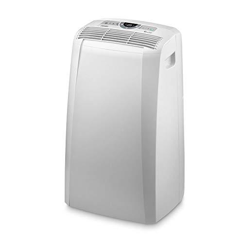De'Longhi Pinguino PAC CN93 ECO Silent - mobiles Klimagerät mit Abluftschlauch, Klimaanlage für Räume bis 90 m³, Luftentfeuchter, Ventilationsfunktion, 12h-Timer, 2,6 kW, 75 x 45 x 39,5 cm, weiß