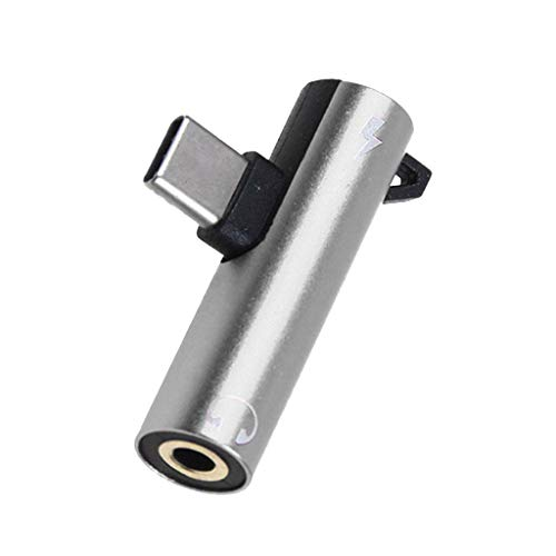 TianranRT★ Analog-Digital-Audiokonverter - Adapterladung Und 2-In-1-Kopfhörer-Usb-C-Kabel Mit 3,5-Mm-Kopf, Ohne Line-Audiokonverter, Silber
