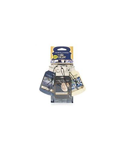 Yankee Candle 1159973E Auto-Lufterfrischer, Autodach Auswahl Packung 3 Stück, Evening Stroll