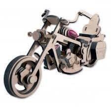 Keranova Junior- Kit de Madera Moto Custom Grande, Color marrón (5505)