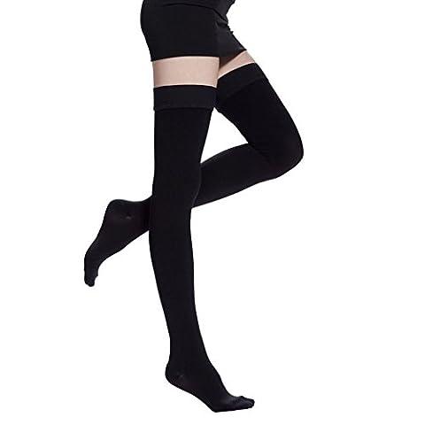 butterme femmes de nuit Medical cuisse haute bas chaussettes de compression 20–30mmHg