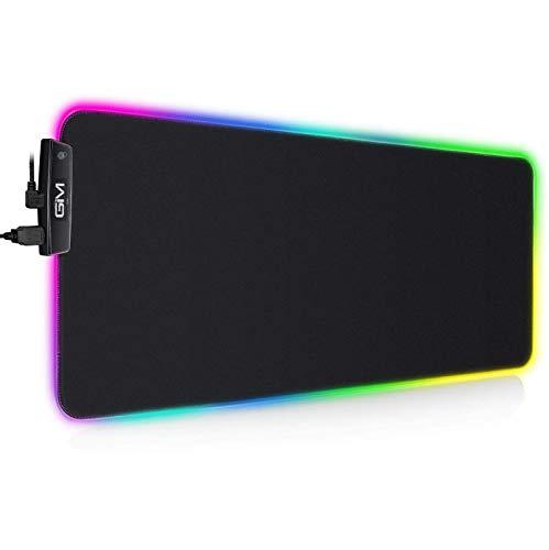 RGB Gaming Mauspad LED Mousepad Maus Mat Beleuchtung Tastatur Unterlage 800mm x 300mm x 5mm