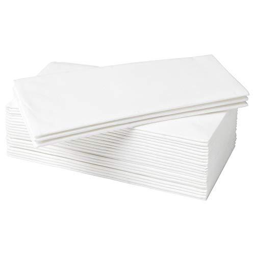 IKEA MOTTAGA dicke weiße Papierservietten, 38 x 38 cm, 50 Stück