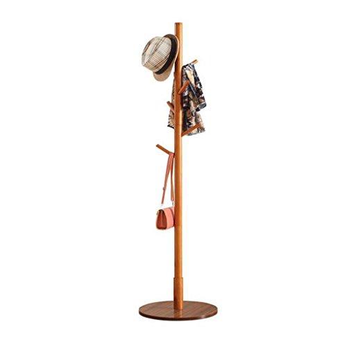 L&y appendiabiti attaccapanni scaffale di stoccaggio del cappello della sciarpa dei vestiti del gancio semplice dell'ufficio del gancio del pavimento dello scaffale semplice di legno solido della cremagliera