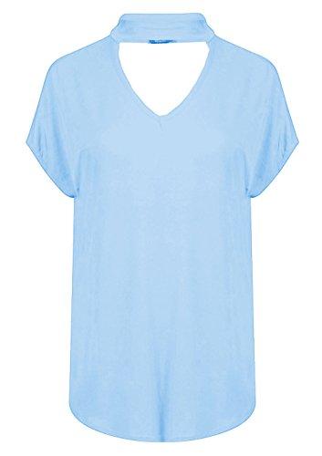 Ahr Ltd - Canotta - Basic -  donna Sky Blue