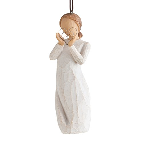 Willow Tree Lots of Love Hanging Ornament, Stein, Color_Name, 3.5 x 3.5 x 11 cm