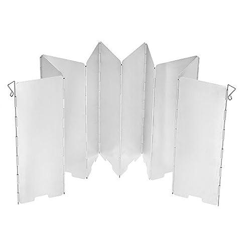 TOMSHOO 10 Stücke Outdoor Aluminium Windschutz für Alle Arten von Feuerstellen BBQ Windschutzscheibe (10 Stücke)