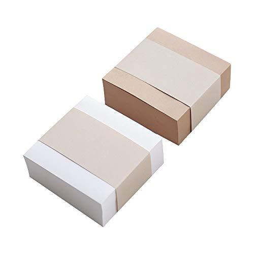 Xhuan 1 Packung super Dicke Haftnotizen, quadratische Schreibnotizblöcke, Lesezeichen, Memo für Büro, Schule, 400 Blatt/Packung White Paper(White Paper )