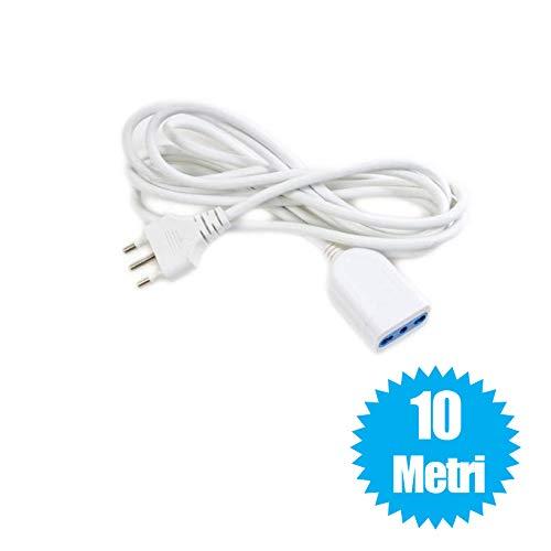 081 store - cavo prolunga elettrica spina corrente 10a bipasso 2p-t 10a 10 metri 1500w 250v