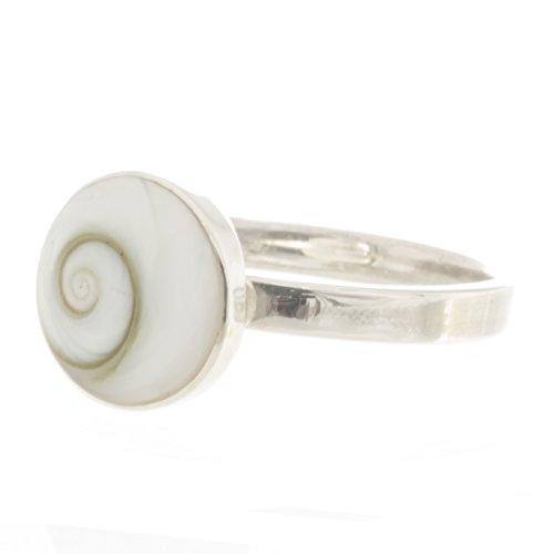Damen Auge (Bella Carina Damen Ring mit Shiva Auge rund 1 cm, verstellbar, 925 Sterling Silber)