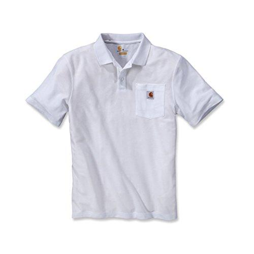 Carhartt K570 Work Pocket Polo XXL White - White Knit Polo-t-shirt