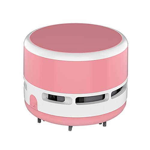 FineInno Mini Crumb Aspiradora Portátil Desktop Sweeper Handheld Inalámbrico Multifunción para Casa, Oficina, Carspet Pelo (No incluye batería) (rosado)