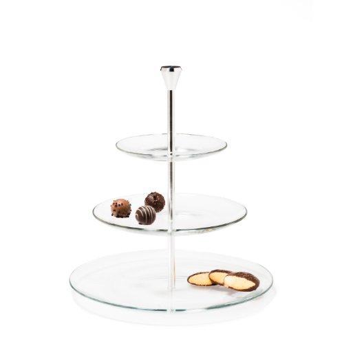 Leonardo 020543 - Etagere - Dinner - drei Etagen - Glas