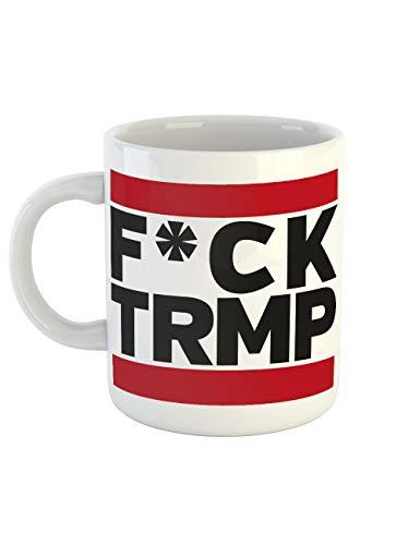 clothinx Kaffeetasse mit Aufdruck FCK TRMP