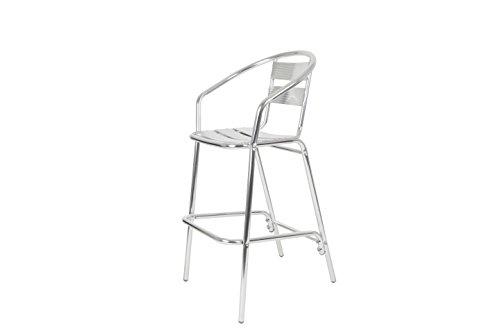 chaise pour terrasse empilable aluminium