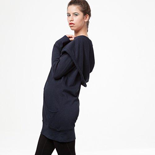 THOKKTHOKK TT1013 Yuki Zipjacket Eclipse Woman aus 100% Biobaumwolle hergestellt // GOTS & Fairtrade Zertifiziert, Größe:S/M - 3