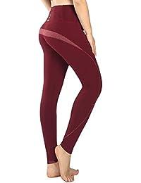 New Mincc Leggings de Sport pour Femme Pantalon Yoga Fitness Minceur Long  avec Poches Basique élastique 80f7397c87a