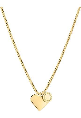 Liebeskind LJ-0504-N-45 Damen Collier Herz Edelstahl Gold 45 cm