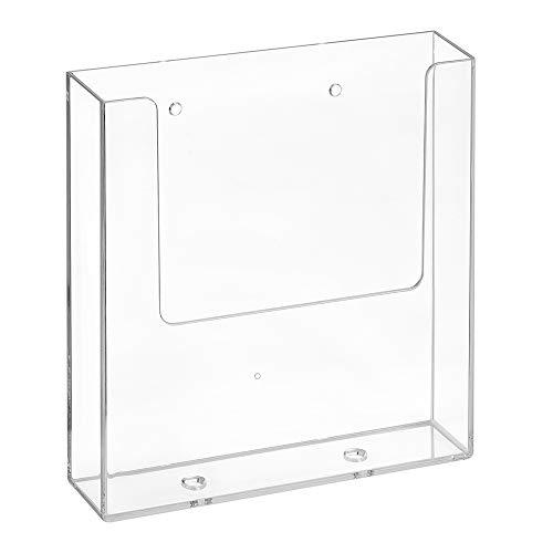 DIN A5 Wandprospekthalter mit Bohrlöchern/Prospekthalter/Flyerhalter/Wandmontage/Transparent - Zeigis®
