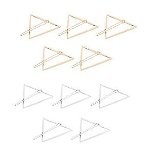 Fenteer 10 teilig Gold Silber Haarspange Set Haarclip Haarschmuck Haarklammer Geometrische Form Haar Stying Für Frauen Mädchen