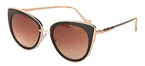 Sonnenbrille Metallrahmen Cat Eye Frauen Weibliche Sonnenbrille Sonne Brille Berühmten Designer Legierung Beine Gläser Gold Frame