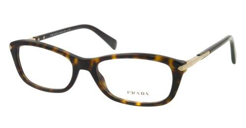 Prada Montures de lunettes 04P Pour Femme Black, 52mm 2AU-1O1: Tortoise
