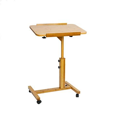 KFXL Einstellbarer Laptop-Tisch Laptop-Tisch - Leicht Höhenverstellbarer Lazy Couch-Nachttisch, Um 360 ° Drehbarer, Klappbarer Student-Schreibtisch mit 4-Rad-Rollen Mobiler Laptop-Schreibtisch