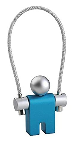 Troika Jumper Schlüsselring blau Aluminium mit Drahtschlaufe