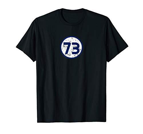 Sheldon Nerdy blaues Kreis-T-Shirt der Nr. 73 T-Shirt