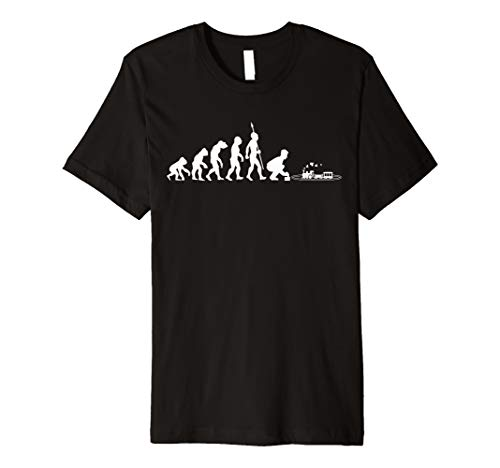 Modelleisenbahn Eisenbahn Lokomotive Evolution Fun T-Shirt