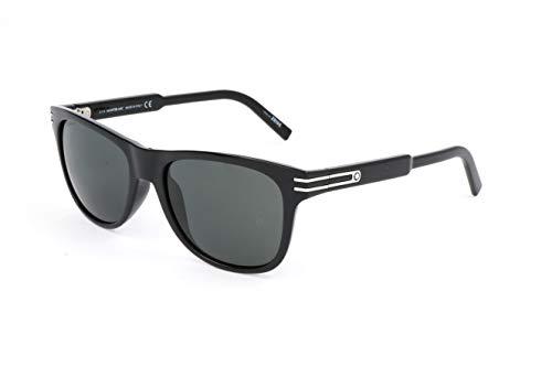 Montblanc Unisex-Erwachsene Mont Blanc Sonnenbrille, Black, 56