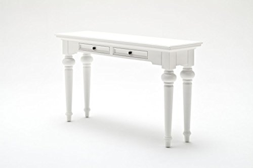 Provence Landhausmöbel eleganter Konsolentisch weiß Landhaus Barock Altartisch Vintage