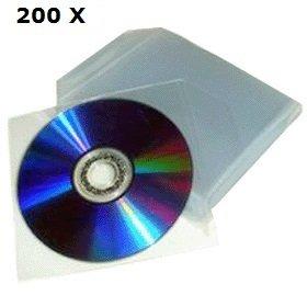 Preisvergleich Produktbild Chance SAS–200transparente Beutel für CD DVD Universal mit Klappe