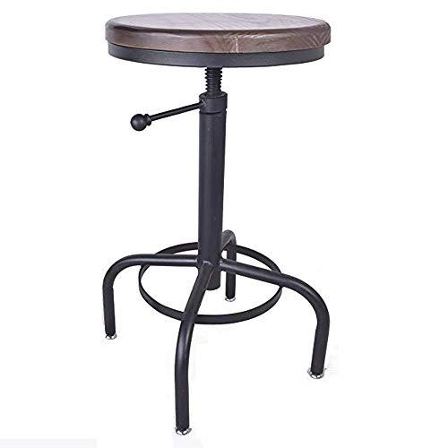 KY Barhocker Barstuhl Hocker Stuhl Antike Industriedesign Metall Höhenverstellbarer Barhocker Stuhl Küche Esszimmer Frühstück Bar Stuhl -