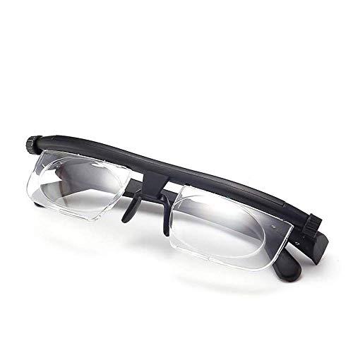 Keepmoving Brennweite einstellbare Lesebrille, 6D bis + 3D Myopie Lupe, HD Anti-Müdigkeit Männer und Frauen alte Brille, Vater und Mutter Lesehilfe Sehhilfe Arbeitsplatzbrille - Einstellbare Brillen-lupe