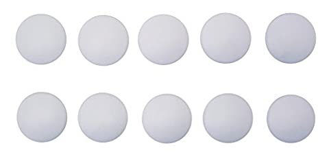 Nath Hardware | Door stop self-adhesive 10 pieces | white Ø 40mm Height: 10mm | Made in Germany | Soft PVC rubber | Stop damper wall buffer door stop Elastic buffer| extremely strong adhesive