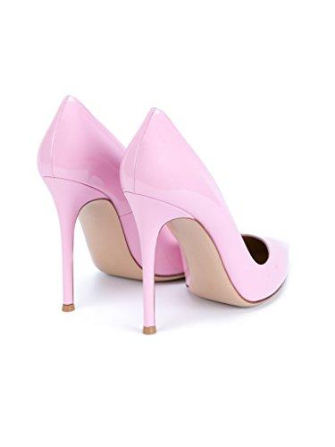 EDEFS Damenschuhe Faschion Elegante 100mm Spitz Standard Office Partei Abschlussball High Heel Pumps Schuhe Pink