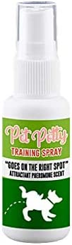 FJ Potty Here Training Aid Spray – Attractive Scent Helps Train Puppies & Dogs Where to to Urinate Wherever The Product Spra