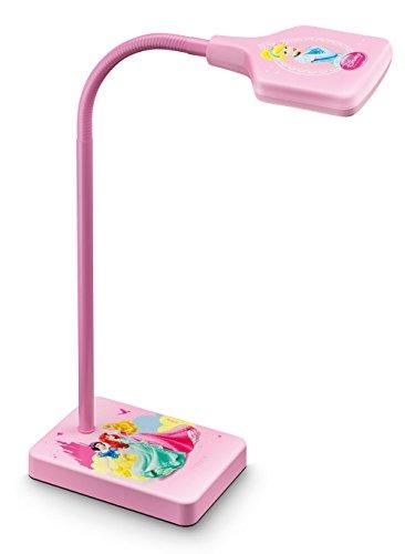 Philips Disney Princesas - Lámpara de escritorio, LED, luz fría, bombilla de 4 W, color rosa