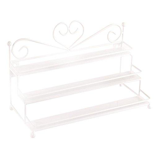 Snow Island 3Etagen Metall Nagellack Ständer Halter Wand Rack Tisch Organizer | Retail Kosmetik Display | erbanlagen Lagerung Rack | Weiß