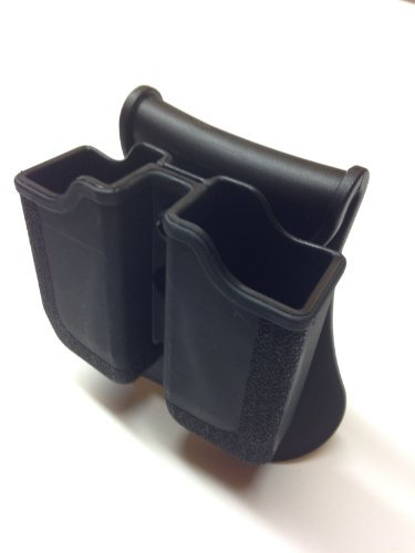 Ruger SR9 Molded Double Mag Holster / Pouch by Shaver products (Ruger Mag)