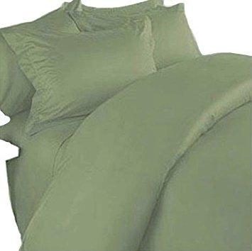 Marrikas Bettwäsche-Set aus 100% Viskose aus Bambus, extra lang, Salbeigrün -