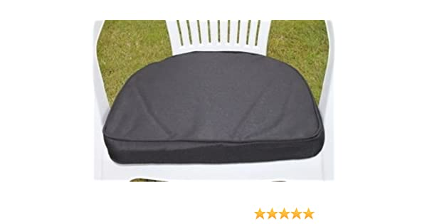 UK Gardens Black Garden Furniture Chair Cushion Seat Pad Round Back   Ideal  For Plastic. UK Gardens Cream Beige Garden Furniture Chair Cushion Seat Pad