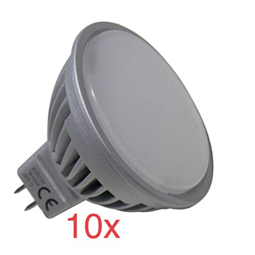 (LA) 10x MR16 LED 12V 7w, POTENTISIMA! 120 grados 740 lumenes reales certificados! BI PIN. (Blanco calido 3000K)