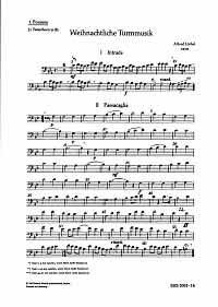 Weihnachtliche Turmmusik: Fünfstimmige Sätze für Blechbläser in variabler Besetzung. 5-9 Blasinstrumente. Posaune I / Tenorhorn. (Schott Harmonie Serie)