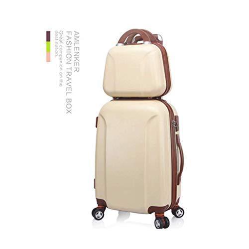 HUANGA HUANGDA valigia ventiquattrore valigia ventiquattrore trolley da 26 pollici valigia ventiquattrore valigia da 24 pollici set -7 colori (Color : Khaki, Dimensione : 22 inches)