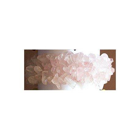 Natural Books : Bracelet baroque Quartz Rose - Large XXL - pierres Naturelles - Lithothérapie : Douceur - Amour - Amitié - Libération