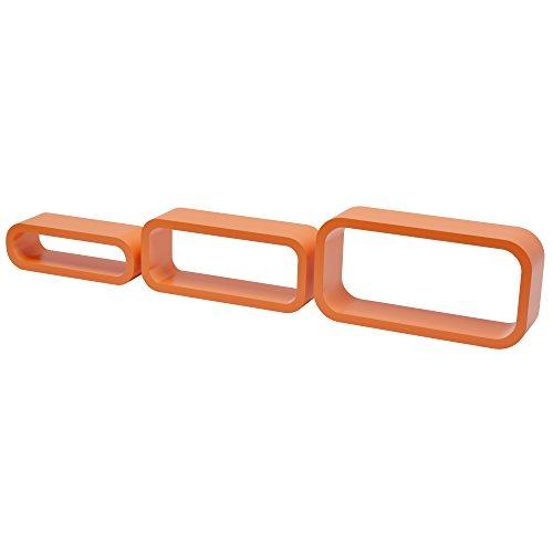 Duraline gioco 3 cubi ovale angolo curvi, legno, arancione, 40 x 20 x 10cm, 2 unità